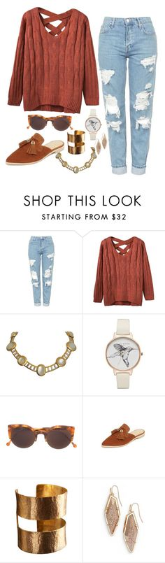 """Concord"" by chelsofly on Polyvore featuring Topshop, Olivia Burton, RetroSuperFuture, Stuart Weitzman, ADIN & ROYALE and Kendra Scott"