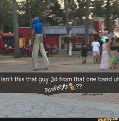 Sunshine In A Bag, Gorillaz Fan Art, Monkeys Band, Damon Albarn, Fandoms, Music Memes, Band Memes, Emo Bands, Stupid Funny Memes