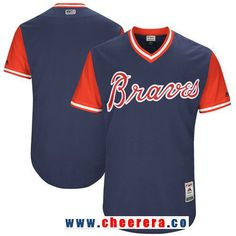 02a271faeae Men s Atlanta Braves Majestic Navy 2017 Little League World Series Players  Weekend Stitched Nickname Team Jersey