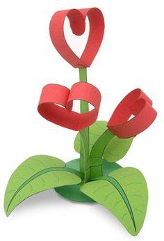 20 Beautiful DIY Paper Craft Step by Step Tutorials - ArtsyCraftsyDad Mothers Day Crafts, Valentine Day Crafts, Valentine Decorations, Diy And Crafts, Crafts For Kids, Arts And Crafts, Diy Paper, Paper Crafts, Heart Crafts