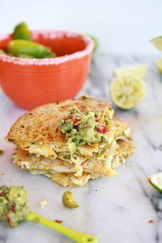Margarita Chicken Quesadilla with Margarita Guacamole - Half Baked Harvest