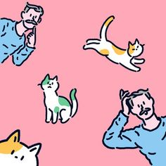 koke님의 프로필 - 영상/모션그래픽, 일러스트레이션 Character Drawing, Character Design, Dog Books, Line Illustration, Hippie Art, Cute Animal Drawings, Cute Icons, Cartoon Styles, Aesthetic Art
