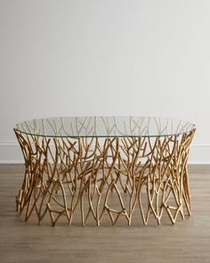 """Golden Branches"" Coffee Table - BBC Boracay says: "" We like the idea. Can be made of Bamboo branches..."""