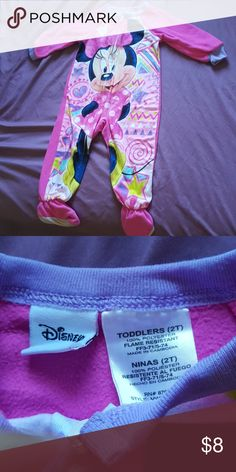 6889c6264 Minnie Mouse Footed Onesie EUC. Used only a couple times. One Pieces  Footies Wetsuit