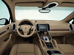 Inside a Porche Cayenne 2011. Turn the key and step on it!