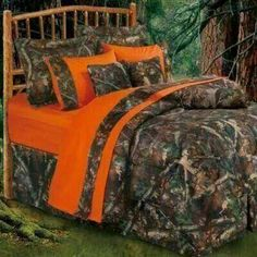 Orange camo For a full size bed