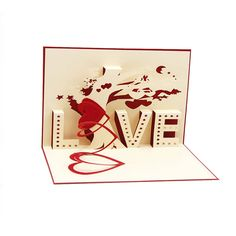 3D Pop Up Cards Cupid Heart Happy Valentine Anniversary Birthday Christmas Postcard #jewelry, #women, #men, #hats, #watches, #belts, #fashion