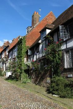 During the Mabel Lucie Attwell lived and worked at Robin Hill cottage, Mermaid Street, Rye, East Sussex, England. England Ireland, England And Scotland, Rye England, Rye Sussex, East Sussex, Beautiful Buildings, Beautiful Places, Beautiful Streets, Beautiful Scenery