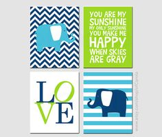 You Are My Sunshine Wall Art Baby Shower Gift Print by ofCarola, $36.00