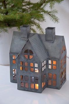 ZINC HOUSES WITH CANDLELIGHT - here's another darling one!