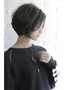 Pin on 髪型 Asian Short Hair, Short Hairstyles For Thick Hair, Short Hair With Layers, Girl Short Hair, Short Hair Cuts For Women, Love Hair, Great Hair, Androgynous Hair, Shot Hair Styles