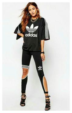 """""""Adidas#black#"""" by szeretlekbarbie ❤ liked on Polyvore"""