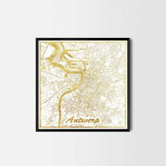 Antwerp map posters are high quality map art prints of a great city. Perfect for the house and office or as a gift for a friend.