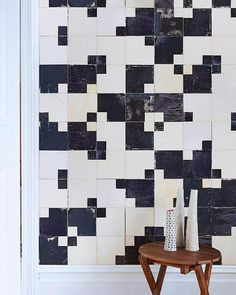 Our Squared black and white #tiles have a surprising lunar depth and texture to them. Click the link in our bio for more. #SminkThings #tile #interiordesign