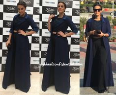In Grassroot - High Heel Confidential Lit Outfits, Green Carpet, Classy Casual, Office Looks, Long Jackets, India Fashion, Black Pants, Celebrity Style, Anita Dongre