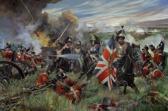 British infantry faced with a severe problem -  French cuirassiers making off with their colors!