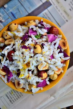 Easy, Guilt-Free Summer Recipe: Jasmine Rice Hazelnut Salad With Lemon Basil Dressing #glutenfree
