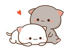 The perfect Cute Cat Love Animated GIF for your conversation. Discover and Share the best GIFs on Tenor. Cute Cartoon Images, Cute Couple Cartoon, Cute Cartoon Wallpapers, Chibi Couple, Chibi Cat, Cute Chibi, Chibi Eyes, Anime Chibi, Cute Kawaii Animals