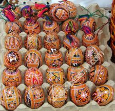 Traditional pysanky from Kosmach