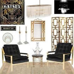 The Great Gatsby Home Decor Google Search Mood Board