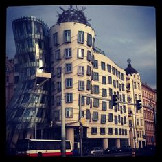 "The ""Dancing House"" in Prague, Czech Republic #travel #architecture"