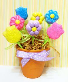 Flower cake pops gif