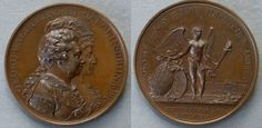 Medal commemorating the Marriage of the Prince of Wales to Princess Caroline of Brunswick, 1795 (medal incorrectly dated 1797).
