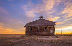https://flic.kr/p/pW9FYC | Aroya School, Colorado | The Aroya School is a beacon in the endless, flat Colorado prairie and was once part of Cheyenne County District No. 9.
