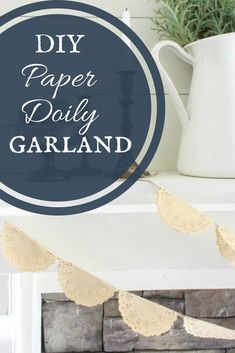 Do you have 10 minutes? Well, then you have enough time to make these simple and easy DIY doily garland! Its a quick and easy DIY project! Easy Arts And Crafts, Diy Home Crafts, Simple Crafts, Doily Garland, Flower Garlands, Heart Diy, Paper Doilies, Dollar Store Crafts, Cool Diy Projects