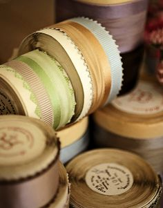 Vintage Spring ribbons on original spools