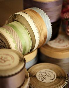 Vintage Spring ribbons on original spools