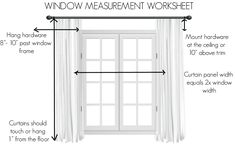Hang Curtains Like A Pro, Tall Curtains, Curtains Living, Living Room Windows, Modern Curtains, Diy Curtains, Living Room Decor, Long Window Curtains, Curtains For Wide Windows