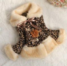 ff7d674f7 FREE SHIPPING Leopard Faux Fur Jacket for Girls-Leopard www.furfrenzy.net  Leopard