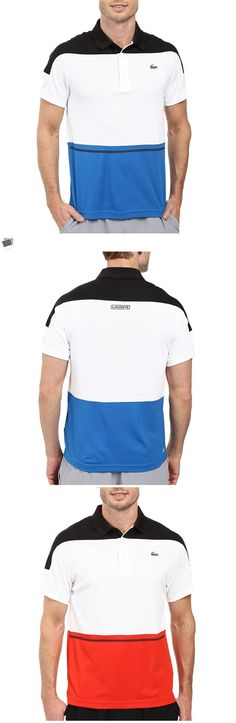 Shirts and Tops 70900: Lacoste Polo Shirt Color Block Polo Black White Blue Lacoste Tennis Shirt New -> BUY IT NOW ONLY: $88.15 on eBay!