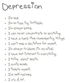 I have depression so I know how hard it can be to pick yourself up after someone pushed you down so hard!