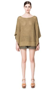 KNITTED PONCHO - Knitwear - Woman | ZARA United States