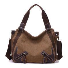 SCDS Brown Bird PU Leather Lady Handbag Tote Bag Zipper Shoulder Bag