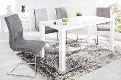 Stolička Ashton hrubá štruktúra sivá