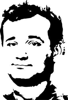 Bill Murray Wall Art by LynchmobGraphics on Etsy