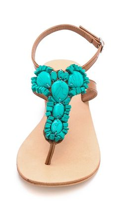 Turquoise sandals. In love!