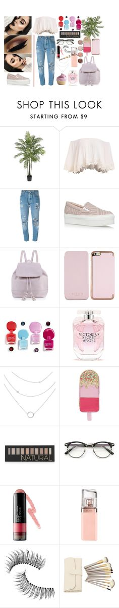 """""""rose dayyy"""" by zeresxoxox on Polyvore featuring Nearly Natural, Levi's, Salvatore Ferragamo, Neiman Marcus, Ted Baker, Victoria's Secret, Accessorize, Forever 21, Smashbox and Terre Mère"""