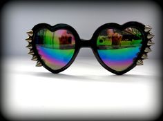 d94b88aec4 Cat spike black heart glasses