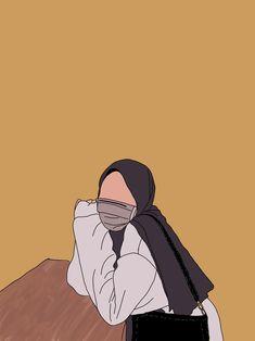 Vogue Wallpaper, Sunset Wallpaper, Girl Cartoon, Cartoon Art, Hijab Drawing, Anime Muslim, Hijab Cartoon, Tumblr Backgrounds, Cute Wallpapers