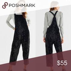 87984693109 Urban Outfitters Black Velvet Overalls Gorgeous   comfortable! Black velvet  overalls by Urban Outfitters.