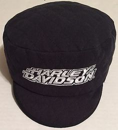 Harley Davidson Quilted Cadet Cap Made in the USA Fitted L/XL Painter