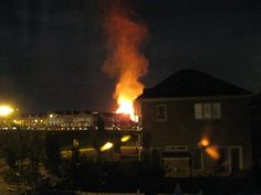 MyNews contributor Lorena Guerrero sent in this photo of a house fire in Ajax, Ont., on Oct. 10, 2011.