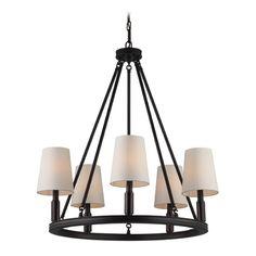 Feiss Lighting Feiss Lighting Lismore Oil Rubbed Bronze Chandelier | F2922/5ORB | Destination Lighting