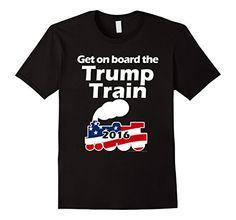 Get on Board the Trump Train, Funny Donald Trump Shirt - #trump2016 #trumptrain #trumpshirt http://www.amazon.com/dp/B01BDT0IJO/ref=cm_sw_r_pi_dp_LdD6wb0JT6G4P