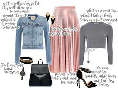 Denim Jacket paired with Pink Velvet Skirt