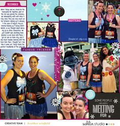 Layout by Heather. Credits: Project Mouse (Ice): Bundle by Britt-ish Designs & Sahlin Studio. Nothing But Photos 3 by Britt-ish Designs. Scrapbook Designs, Scrapbooking Layouts, Digital Scrapbooking, Magic Team, Disney Scrapbook Pages, Godchild, Run Disney, Elsa Anna, Disney Vacations